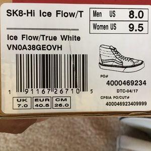 245ea2ebf24a40 Vans Shoes - NWT Vans Sk8-Hi Ice Flow Sneakers W 9.5